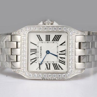 Cartier Santos 100 Chronograph Diamond Set Replica Watch W20073X8