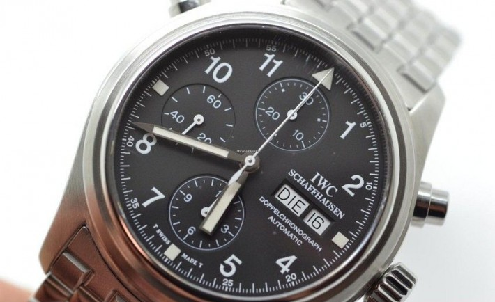 Replica IWC Pilot's Doppelchronograph since used through Jason Statham