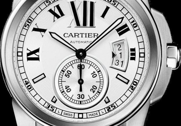 High Quality Replica Famous Calibre de Cartier Opaline Dial Copy Watches
