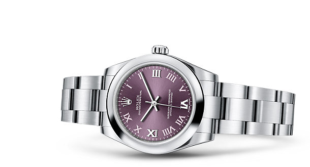 High Quality Cheap UK Dignified Purple Dial Rolex Oyster Perpetual 31 MM Copy Watches