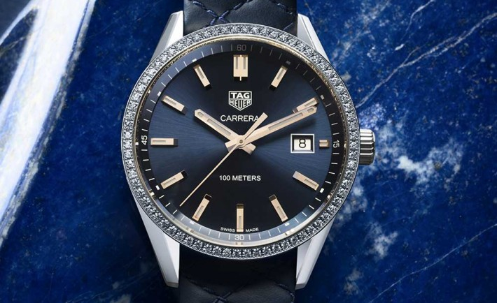 HIGH QUALITY REPLICA CHEAP TAG HEUER – CARRERA LADY STEEL BLUE DIAL
