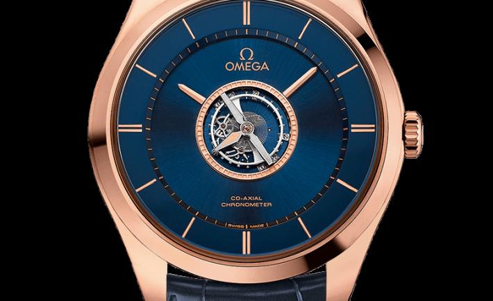 Blue Dial Omega De Ville Tourbillon Co Axial Numbered Edition Replica Watches